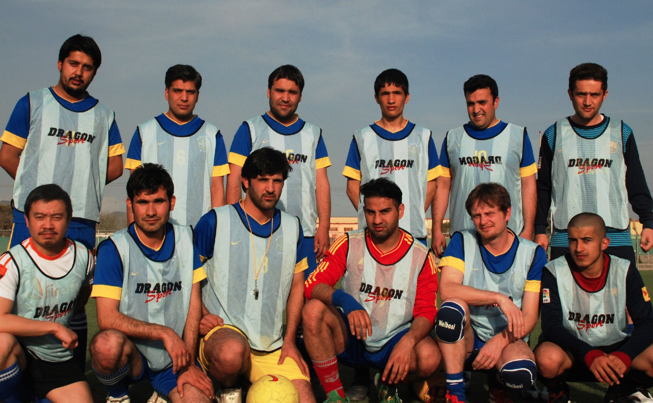 "The ""Shoot for Peace"" Afghan-Internationals football team"