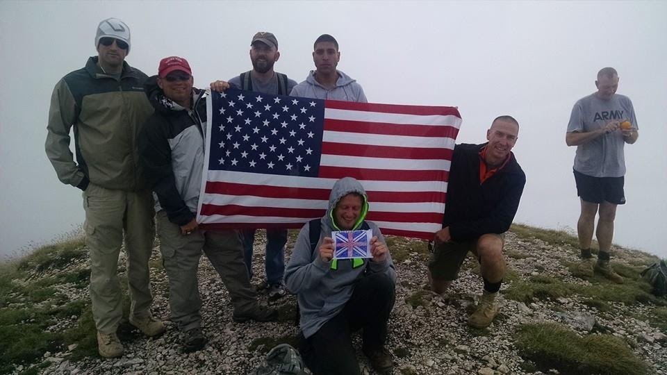 On top of Kosovo's second highest mountain with the US army.